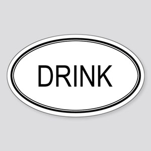 DRINK (oval) Oval Sticker