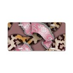 Leopards and Lace - Pink Aluminum License Plate