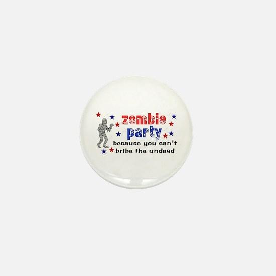 Vote Zombie Party Mini Button