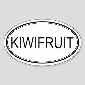 KIWIFRUIT (oval) Oval Sticker