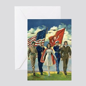 Vintage Forth of July Greeting Cards