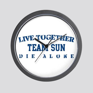 Team Sun - Live Together Wall Clock