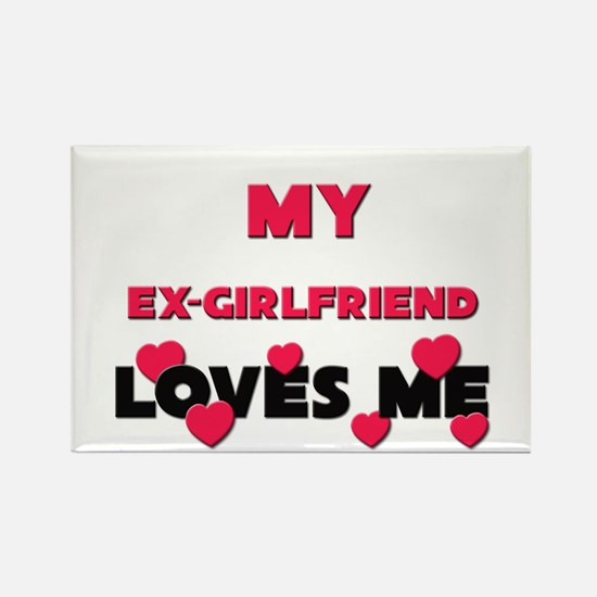 My EX-GIRLFRIEND Loves Me Rectangle Magnet