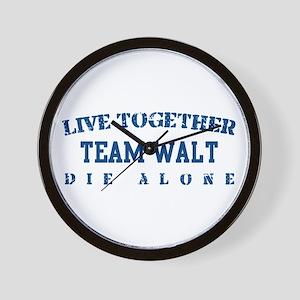 Team Walt - Live Together Wall Clock