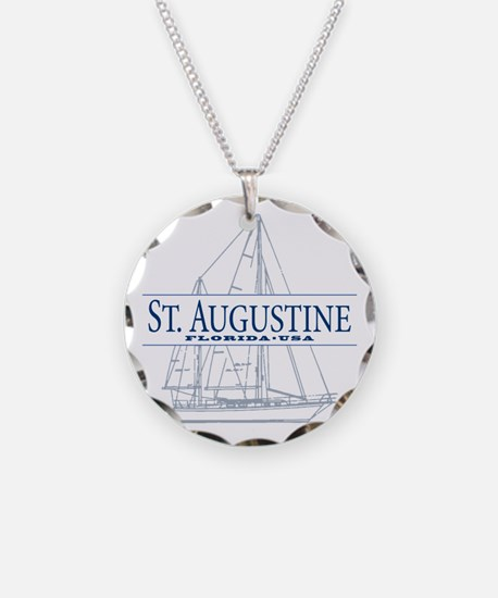 St. Augustine - Necklace Circle Charm