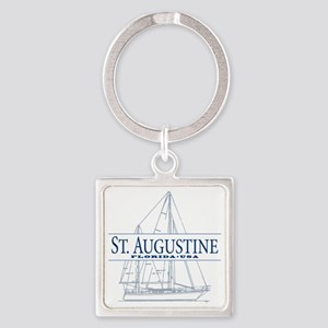 St. Augustine - Square Keychain