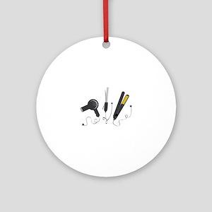 Hair Stylist Tools Ornament (Round)