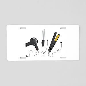 Hair Stylist Tools Aluminum License Plate