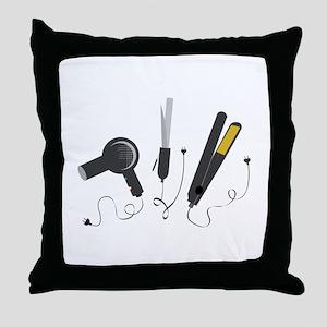 Hair Stylist Tools Throw Pillow
