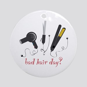 Bad Hair Day? Ornament (Round)