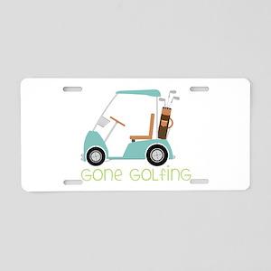Gone Golfing Aluminum License Plate