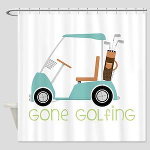 Gone Golfing Shower Curtain