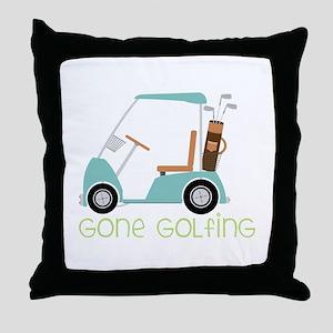 Gone Golfing Throw Pillow