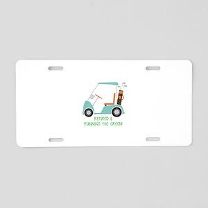 Running The Green Aluminum License Plate