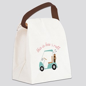 How I Roll Canvas Lunch Bag