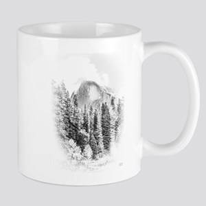 Half Dome Winter Portrait Mugs