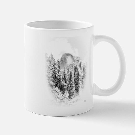 Half Dome Winter Portrait Mugs