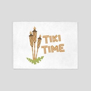 Tiki Time 5'x7'Area Rug