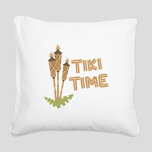 Tiki Time Square Canvas Pillow
