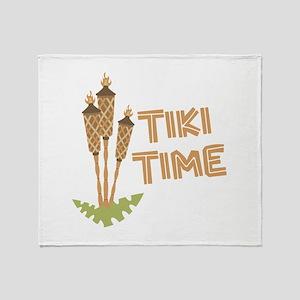 Tiki Time Throw Blanket