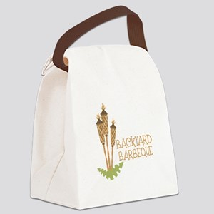 Backyard Barbeque Canvas Lunch Bag