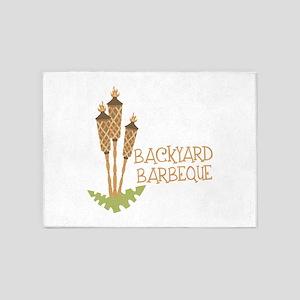 Backyard Barbeque 5'x7'Area Rug