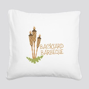 Backyard Barbeque Square Canvas Pillow