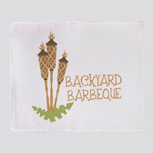 Backyard Barbeque Throw Blanket
