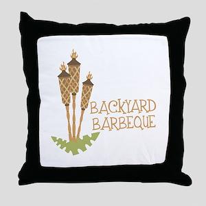 Backyard Barbeque Throw Pillow