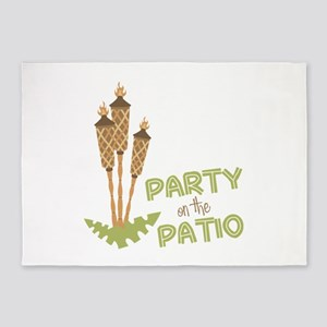 Party On The Patio 5'x7'Area Rug