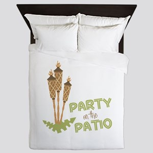Party On The Patio Queen Duvet