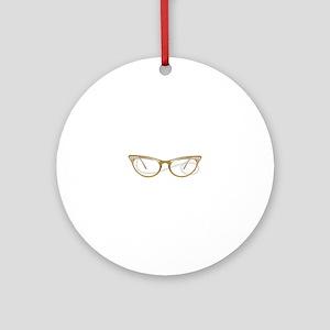 Glasses Ornament (Round)