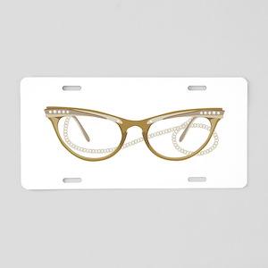Glasses Aluminum License Plate