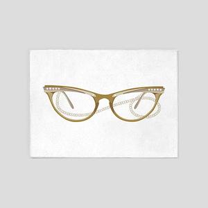 Glasses 5'x7'Area Rug