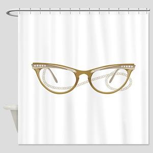 Glasses Shower Curtain