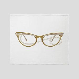 Glasses Throw Blanket