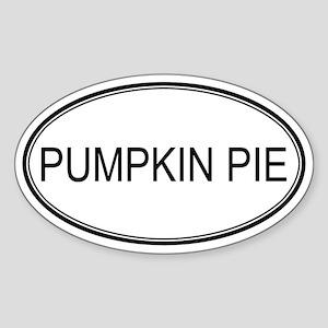 PUMPKIN PIE (oval) Oval Sticker
