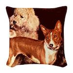 Vintage Basenji Woven Throw Pillow