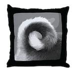 Basenji Tail Throw Pillow