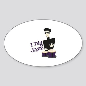 I Dig Jazz Sticker