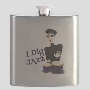 I Dig Jazz Flask