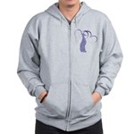 Whippet Hearts Zip Hoodie