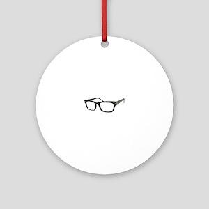 Eye Glasses Ornament (Round)