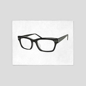 Eye Glasses 5'x7'Area Rug