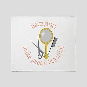 Make People Beautiful Throw Blanket