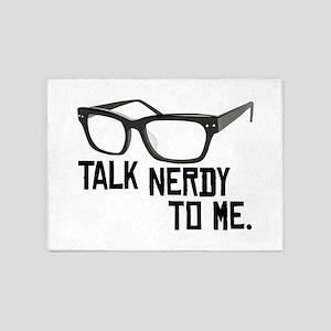 Talk Nerdy To Me. 5'x7'Area Rug