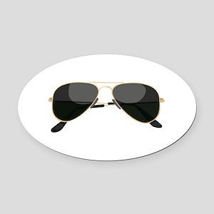 Sun Glasses Oval Car Magnet