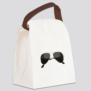 Sun Glasses Canvas Lunch Bag