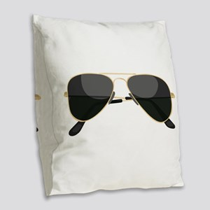 Sun Glasses Burlap Throw Pillow