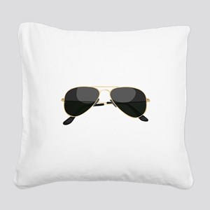 Sun Glasses Square Canvas Pillow